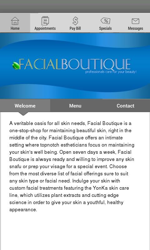 Facial Boutique - screenshot