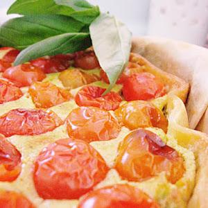 Ricotta Cheese and Pesto Pie