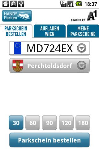 A1 HANDY Parken - screenshot