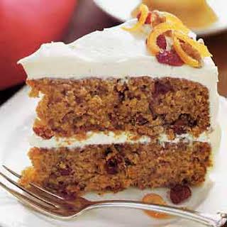 Sweet-Potato Layer Cake with Orange-Cream Cheese Frosting.