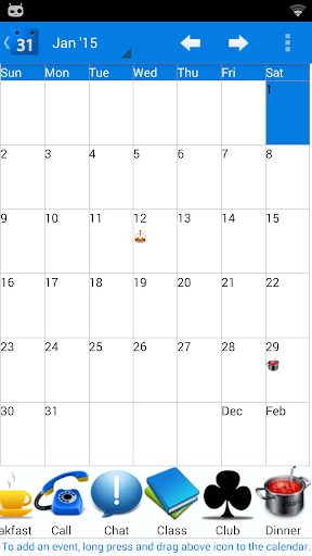 Calendar 2015 Switzerland Pro