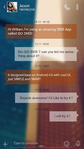 GO SMS PRO FANTACY THEME