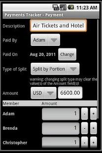 Payments Tracker- screenshot thumbnail