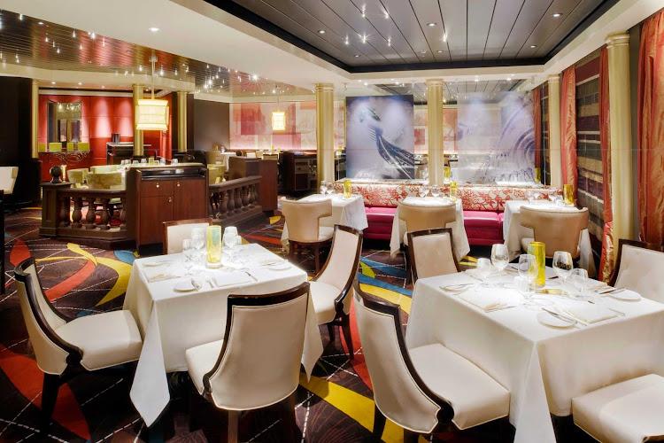 Enjoy Italian cuisine at the specialty restaurant Prego on your Crystal Symphony sailing.