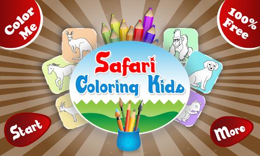 Safari Coloring Kids