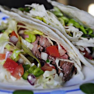 Flank Steak Tacos with Cilantro Lime Marinade.