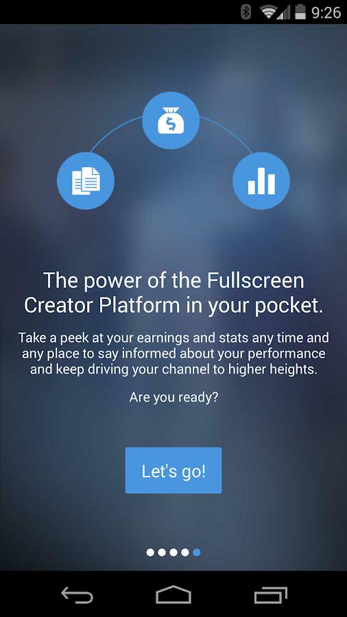 Fullscreen Creator Platform- screenshot
