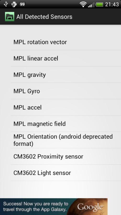 3D Sensors Explorer - screenshot