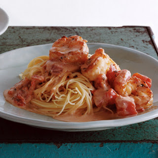 Capellini with Shrimp and Creamy Tomato Sauce