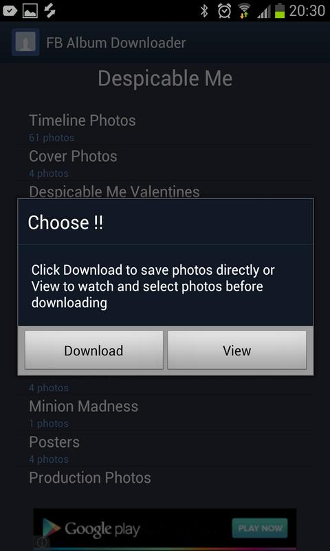 Album Downloader for Facebook - screenshot