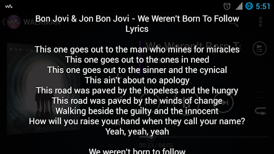 Lyrics Music Extension- screenshot thumbnail