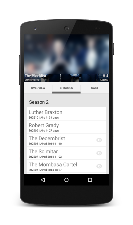 Twee - keep track of tv-series- screenshot