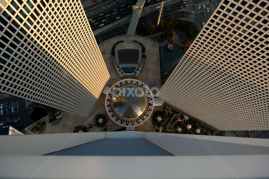 Base Jump by Ronen Rosenblatt - Buildings & Architecture Office Buildings & Hotels ( office, building, landscape, city, top )