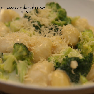 Gnocchi and Broccoli in Parmesan Cream Sauce