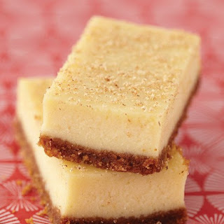 Elizabeth's Eggnog Cheesecake Bars