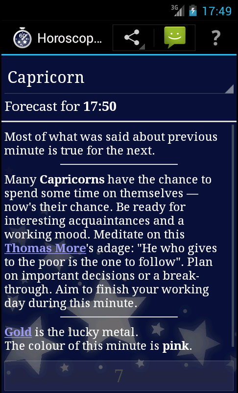 Horoscope a Minute- screenshot