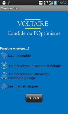 Candide Quiz et Chapitres - screenshot