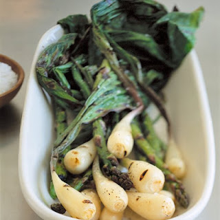 Grilled Ramps with Asparagus