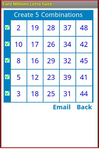 Euro Millions Lotto Suite - screenshot