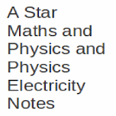 A Level Physics Electric Notes