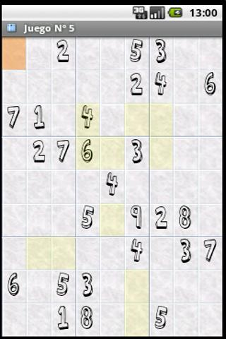 Android Sudoku Demo - screenshot
