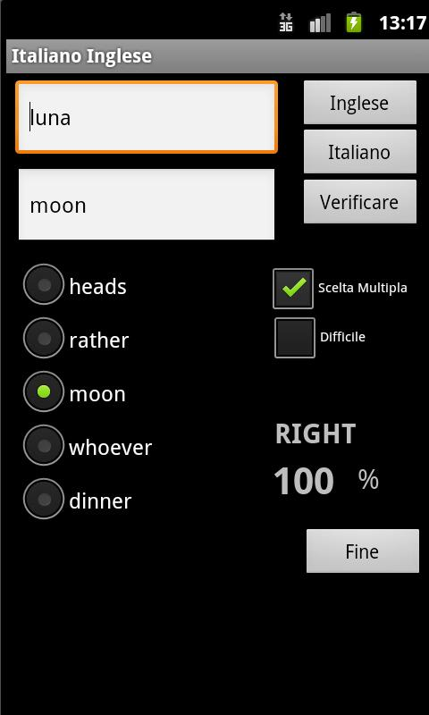 English Italian Dictionary - screenshot