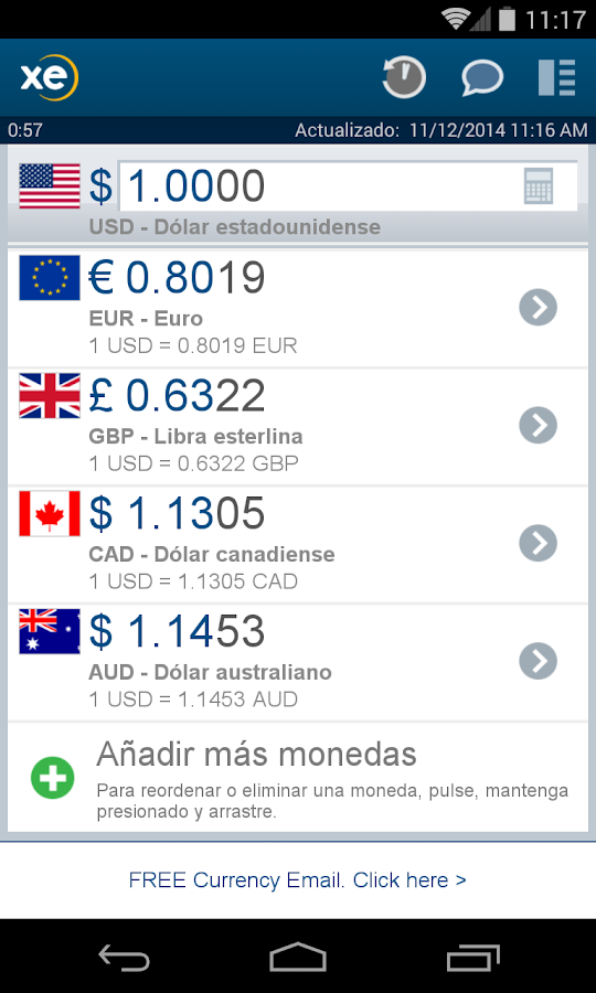 XE Currency - Aplicaciones de Android en Google Play