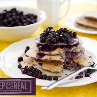 Blueberry Oat Bran Pancakes
