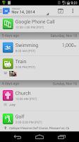 Screenshot of SwimWiz Fitness Log