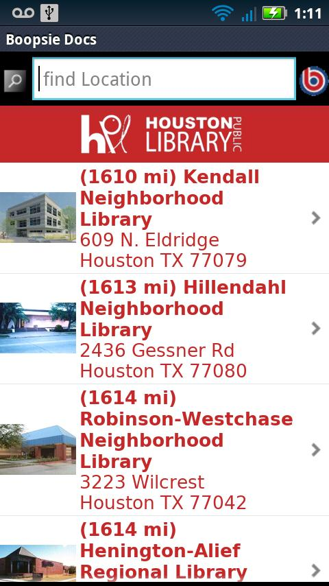 Houston Public Library Mobile- screenshot