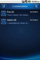 Screenshot of Easy SMS Blue Technology Theme
