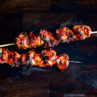 Sambal Chicken Skewers.