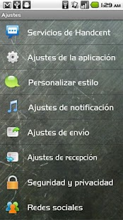 Handcent SMS Spanish Language - screenshot thumbnail