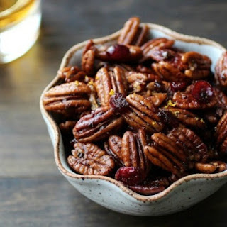 Bourbon Old Fashioned Glazed Pecans.
