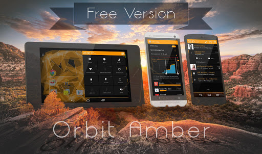 Orbit Amber Free-PA CM11 Theme