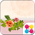 Girly Wallpaper Antique Rose icon