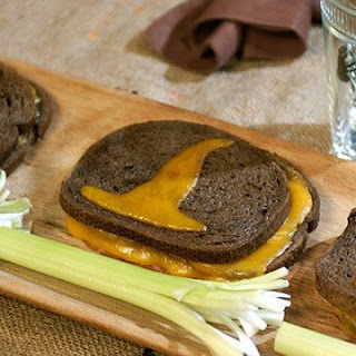 Grilled Cheese Sand-Witches with Celery Broomsticks