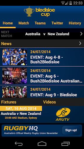 ARU Bledisloe Cup 2014 App