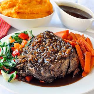 Ginger Braised Beef Roast with Hoisin Jus.