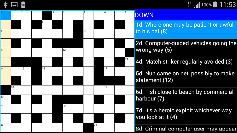 Cryptic Crosswords : ACE Vol1- screenshot