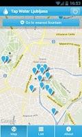Screenshot of Tap Water Ljubljana