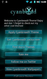 CyanbreadX Theme - screenshot thumbnail
