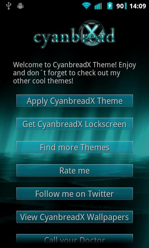 CyanbreadX Theme- screenshot