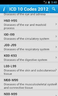 ICD 10 Codes 2012 Free- screenshot thumbnail
