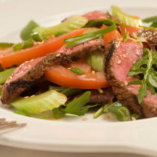 Sesame Steak With Tomatoes.