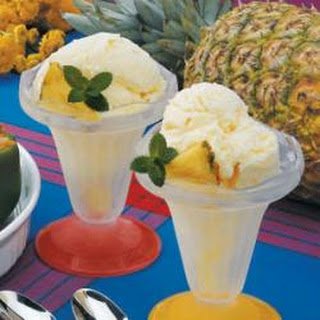 Pineapple Ice Cream.