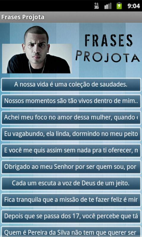 Frases Projota - screenshot