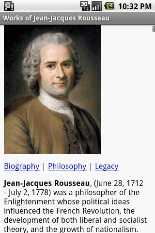 an introduction to the life and literature by jean jacques rousseau Jean-jacques rousseau: restless genius by leo damrosch in chm, djvu brief introduction: the philosopher jean-jacques rousseau burst unexpectedly onto the eighteenth-century literary scene as a provocateur whose works leo damrosch traces the extraordinary life of rousseau with novelistic.
