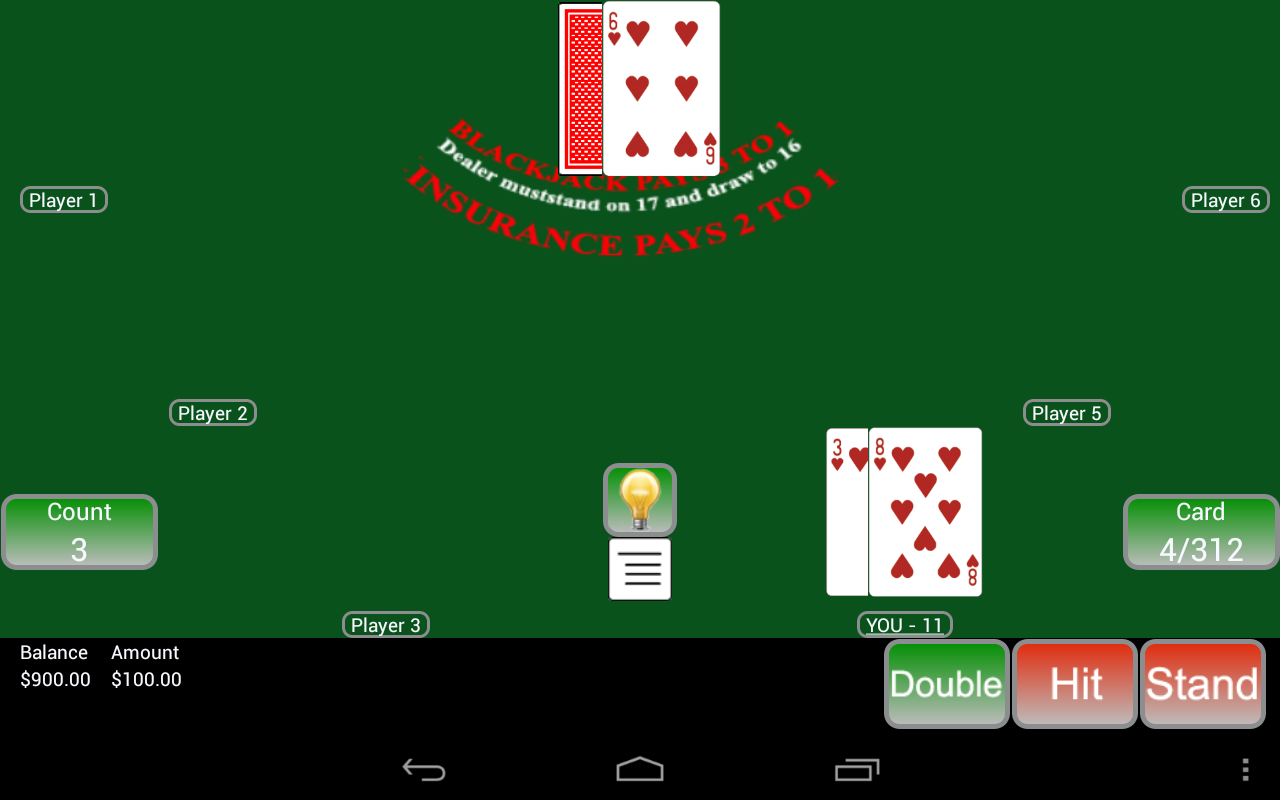 Blackjack table top view - Countem Blackjack Pro 2 Screenshot