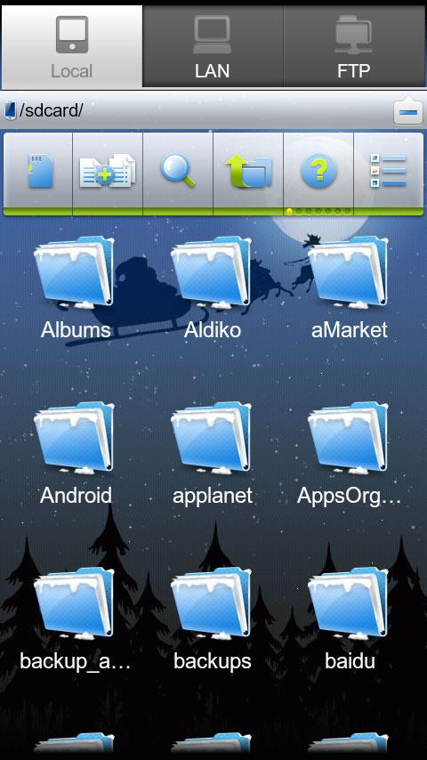 ES File Explorer (1.5 Cupcake) - screenshot